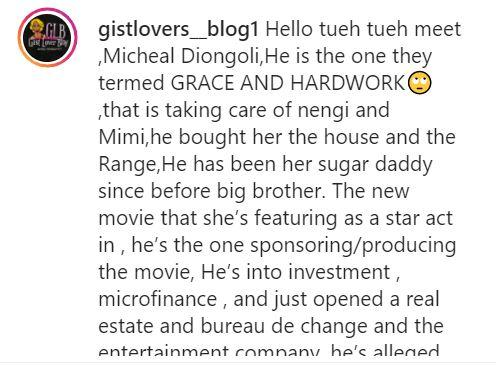 """""""He bought her the house and car"""" - Nengi's alleged sugar daddy exposed"""