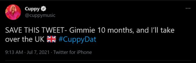 DJ Cuppy UK