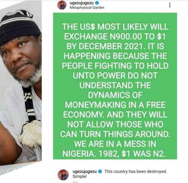 Ugezu dollar naira rate