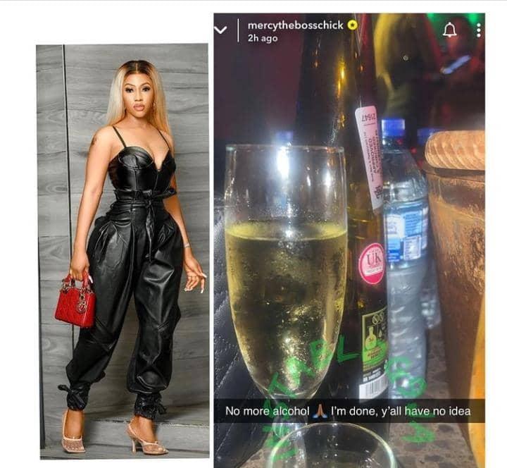 Mercy Eke quit alcohol