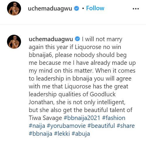 """""""Jim Iyke don reset your thinking"""" - Uche Maduagwu mocked for showering Liquorose with 'positive remarks'"""