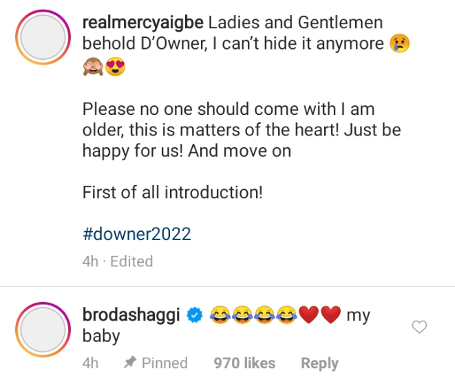 Mercy Aigbe and Broda Shaggi relationship