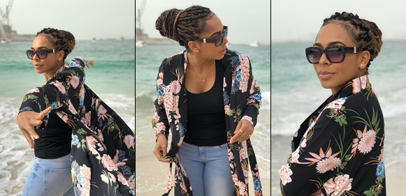 TBoss stuns in new beach photos