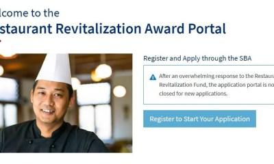 Restaurant Revitalization Fund website