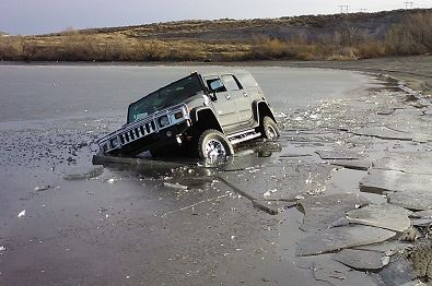 icy crash