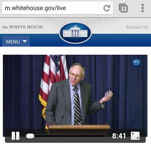 Jack Dangermond speaking at the Climate Data Initiative in D.C