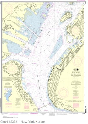 new york harbor chart