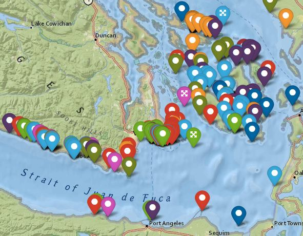 Salish sea oil spill map project