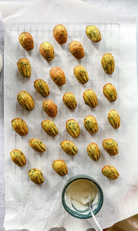 Savory madeleines with herbs