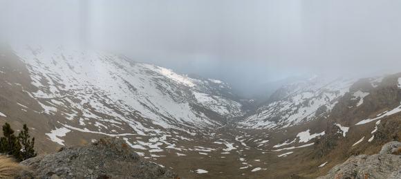 vista sulla valle maira Colle Sampeyron