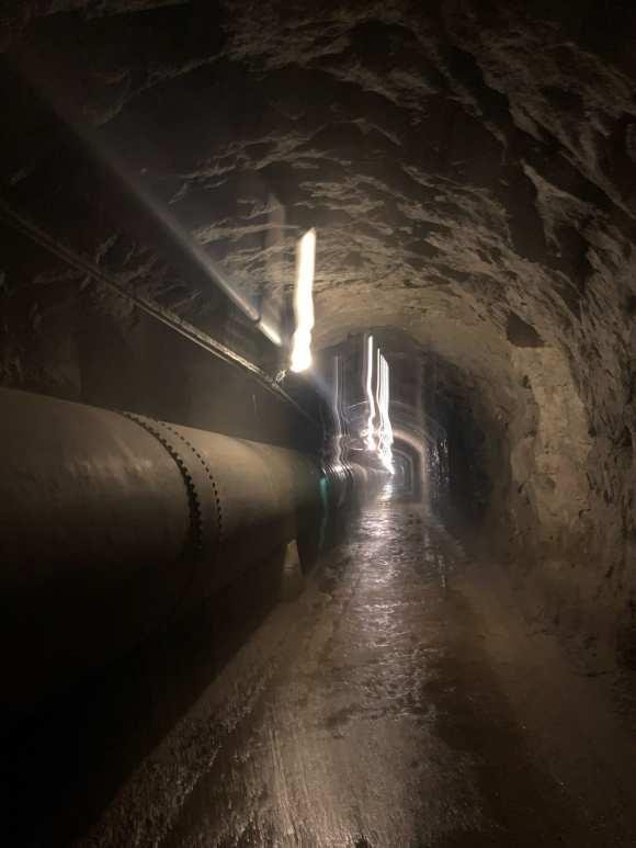 tunnel Enel che conduce ad Agaro