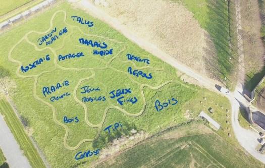 Plan d'implantation parc La Bréjolière