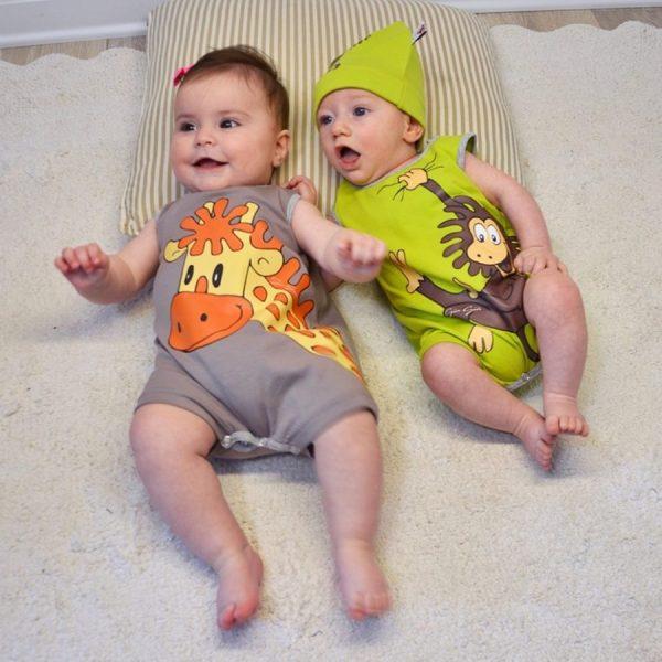 Pagliaccetto neonato smanicato
