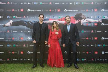 Gabriele Mainetti, Sabrina Impacciatore e Claudio Santamaria