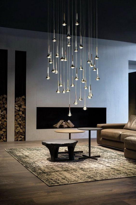 Lights for elegant interiors rain ceiling light
