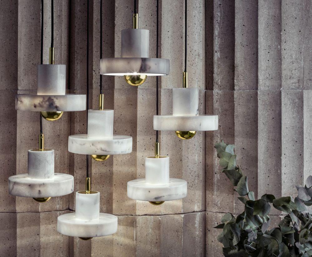 Lights for elegant interiors marble pendant