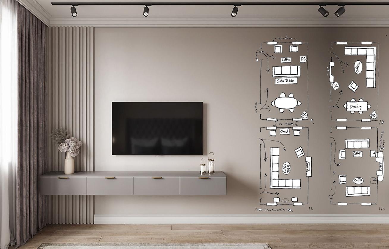 Articolo di cose di casa. Progettare Un Soggiorno Con Tv Moderno 7 Regole Per Una Parete Perfetta Giulia Grillo Architetto Art Home