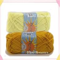 Filato cotone giallo usato per il pulcino amigurumi
