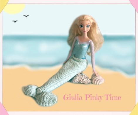 Foto: Barbie con la coda da sirena.
