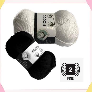 cotton yarn Fiocco Tresfere used to make the cat head amigurumi.