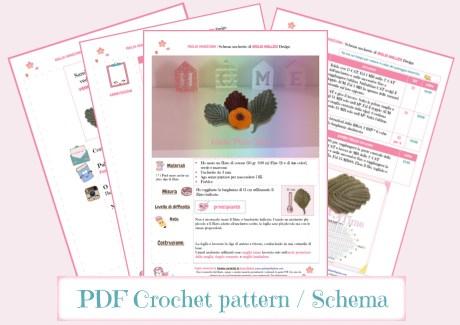 PDF schema foglia veneziana uncinetto da stampare.