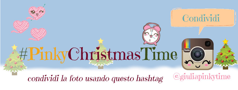 condividi su Instagram usando l'hashtag #PINKYCHRISTMASTIME