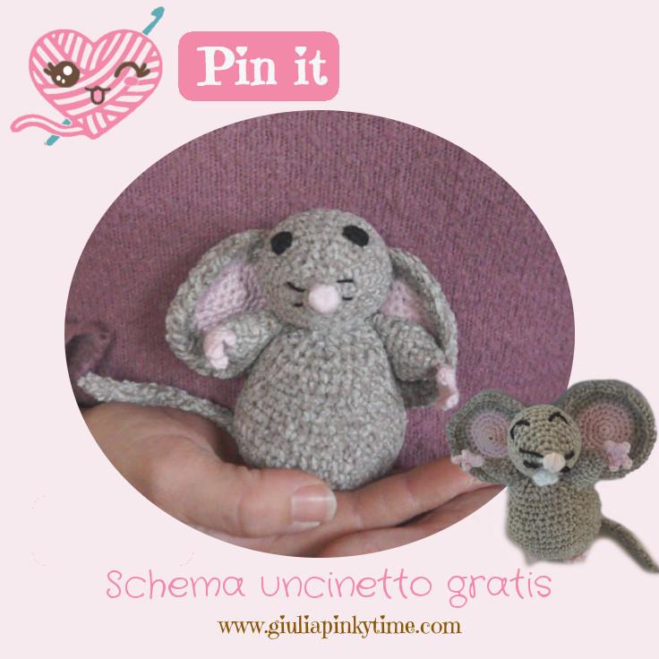 Salva il topolino amigurumi sul tuo Pinterest per farlo dopo