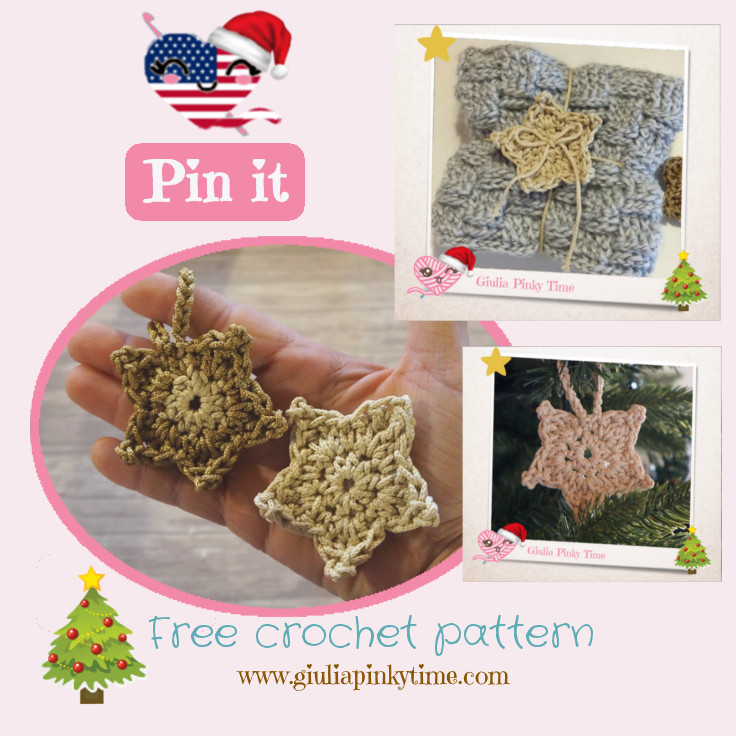 Save the crochet christmas star ornament pattern on your Pinterest dashboard!