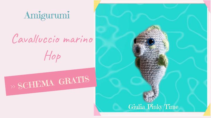 soggetti marini amigurumi - cavalluccio marino hop