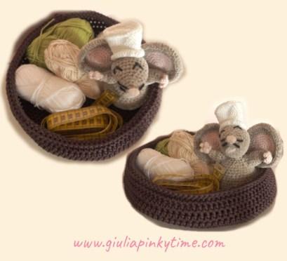 Giuly bag tutorial cestino nido con variante