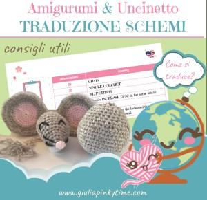 consigli utili per tradurre schemi amigurumi uncinetto | Giulia Pinky Time
