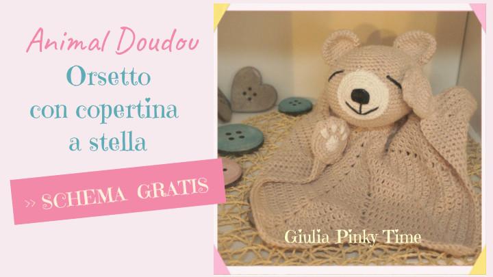schema gratis italiano per fare orsetto doudou uncinetto