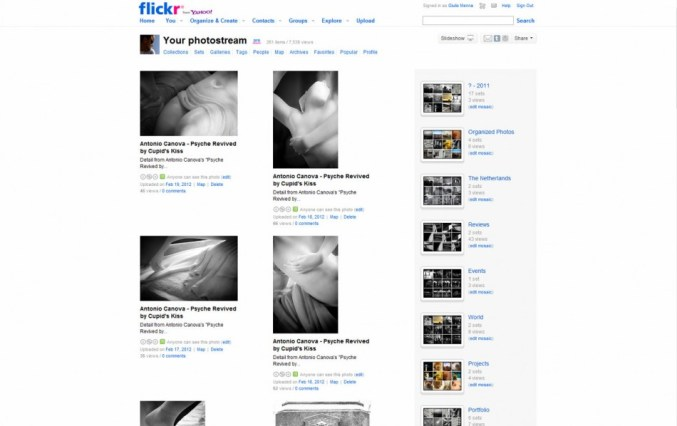 Flickr interface. Old.