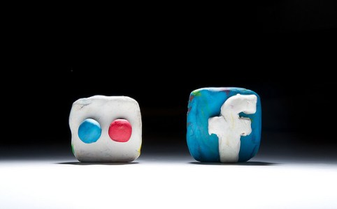 flickr and facebook