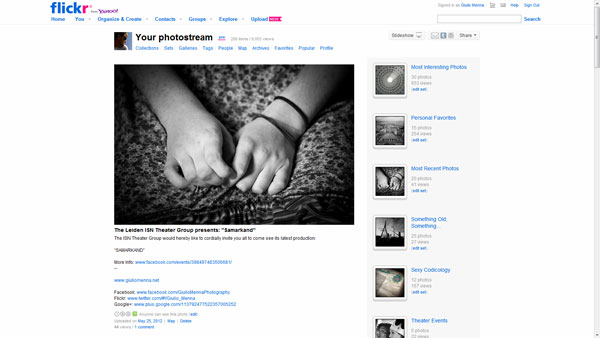 Old Flickr Layout