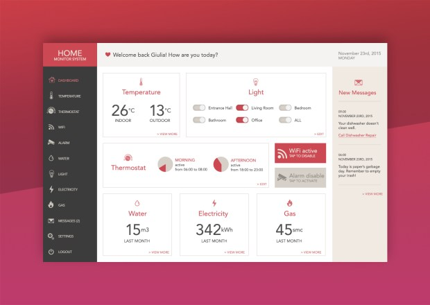 daily ui home monitoring system