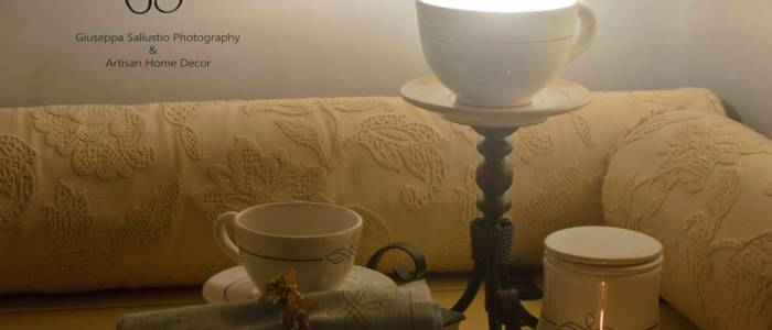Ceramics lamps, cups, hand-made embroidery, textiles and home decor