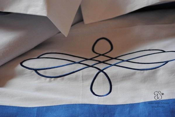 Bed Linen 100% Cotton & Linen Parure for double bed (cm270 x cm290) + fitted sheet (cm230 x cm 240) + 2 pillow cases (cm50 x cm80)