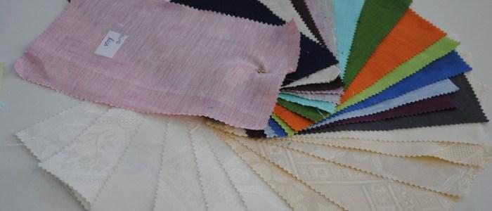 bomull, linne nyanser och mönster
