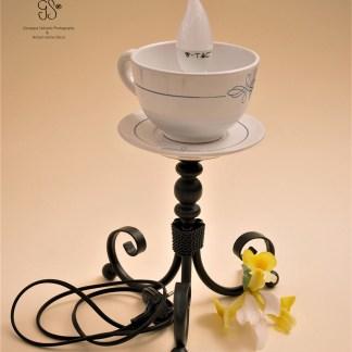 """Ceramics Lamp """"Big Cup"""", Keramiklampe """"große Tasse"""""""