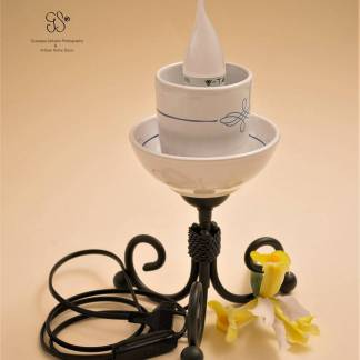 Small Flower Glass Lamp, kleine Blumenglaslampe