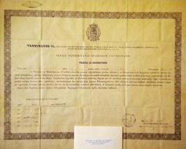 Giuseppe Basile diploma di laurea in Farmacia