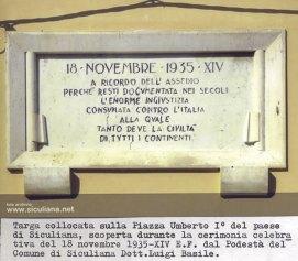 Targa commemorativa.