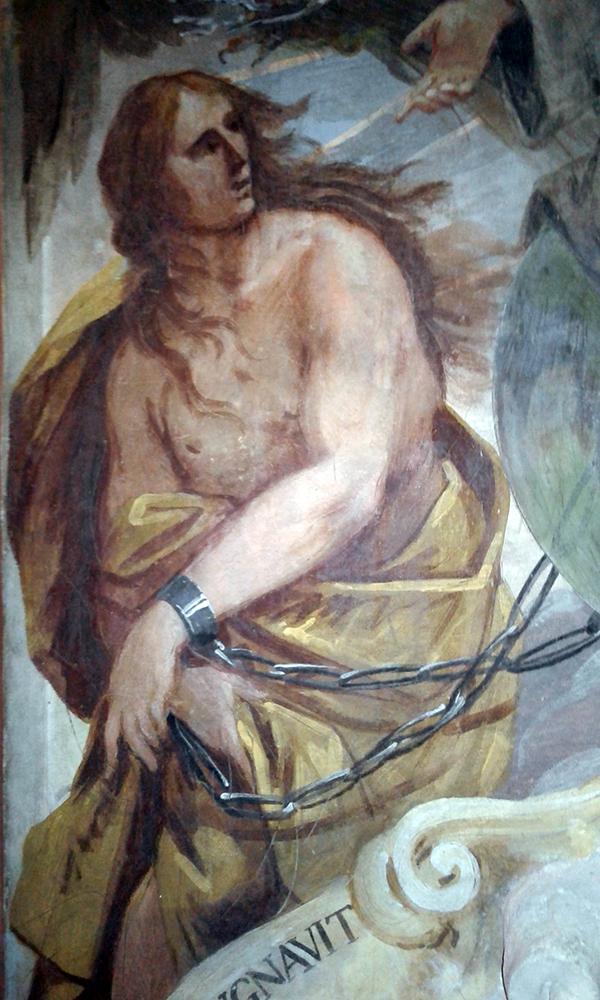 Monumento Matteo Ferchio (1671) Autore del XVII secolo San Giovanni Evangelista