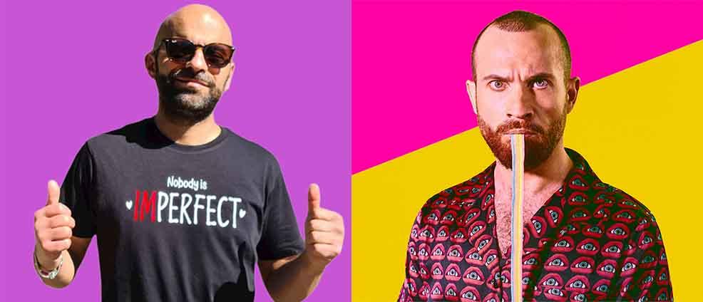 Luca Trapanese e Paolo Camilli al Pride Village