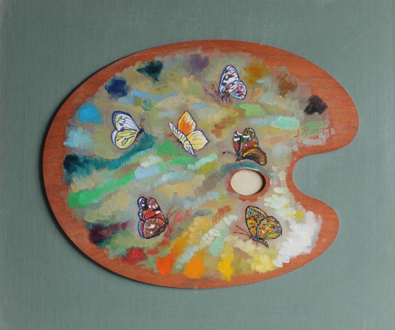 Farfalle in tavolozza