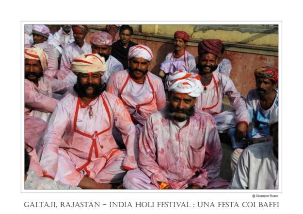 GALTAJI, RAJASTAN - INDIA HOLI FESTIVAL una festa coi baffi