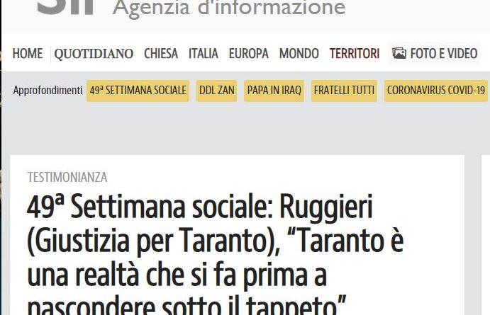 Chiusa la 49^ Settimana sociale dei cattolici italiani a Taranto, GxT ha fatto la sua parte