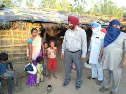 Die kinderreiche Familien brauchten dringend Hilfe.