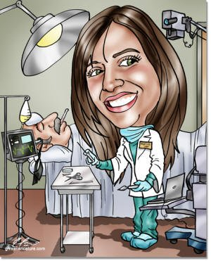 Doctor Gifts Custom Doctor Caricatures Drawn From A Photo